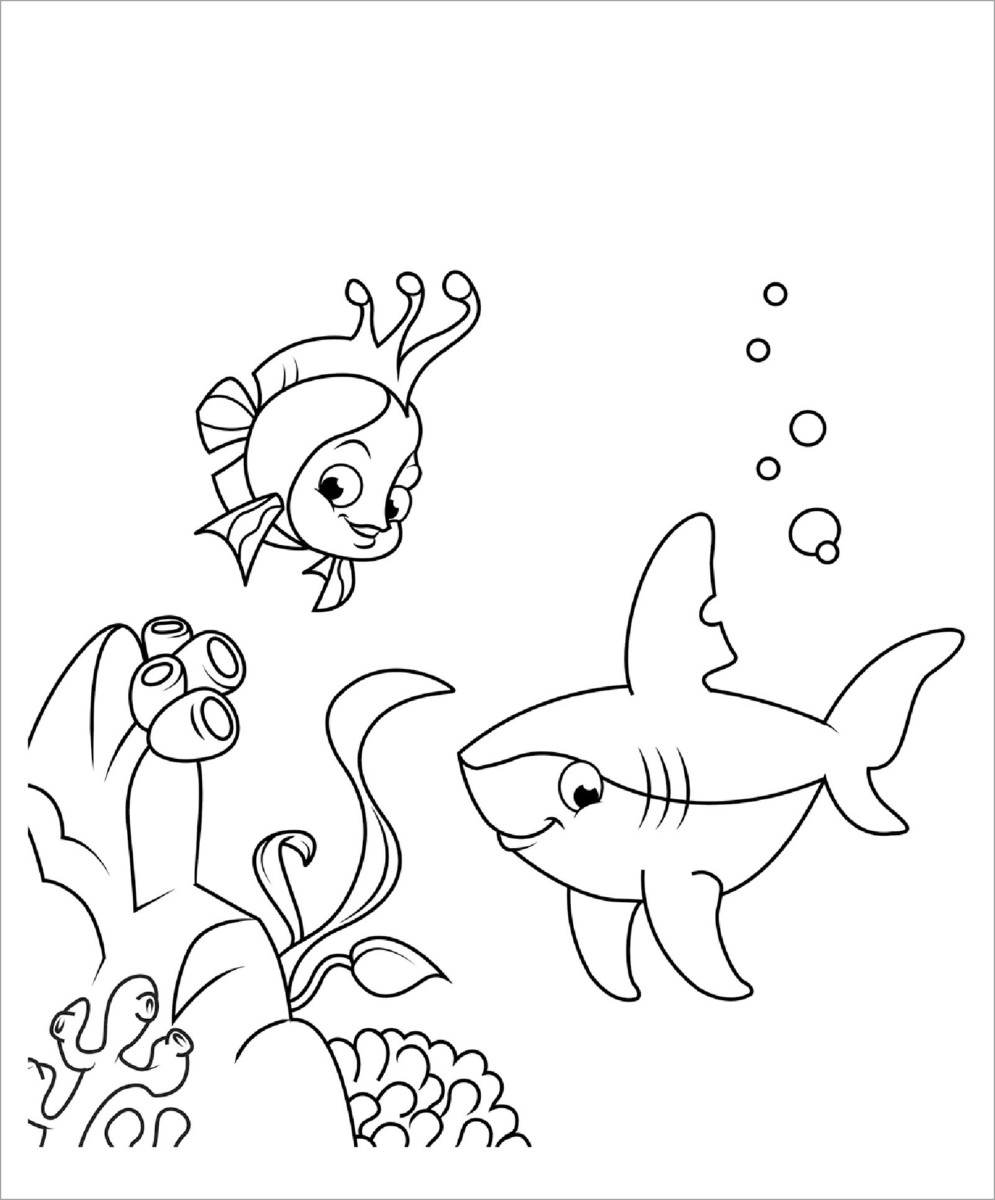 1001 mẫu tranh tô màu con cá đẹp sống động nhất cho các bé