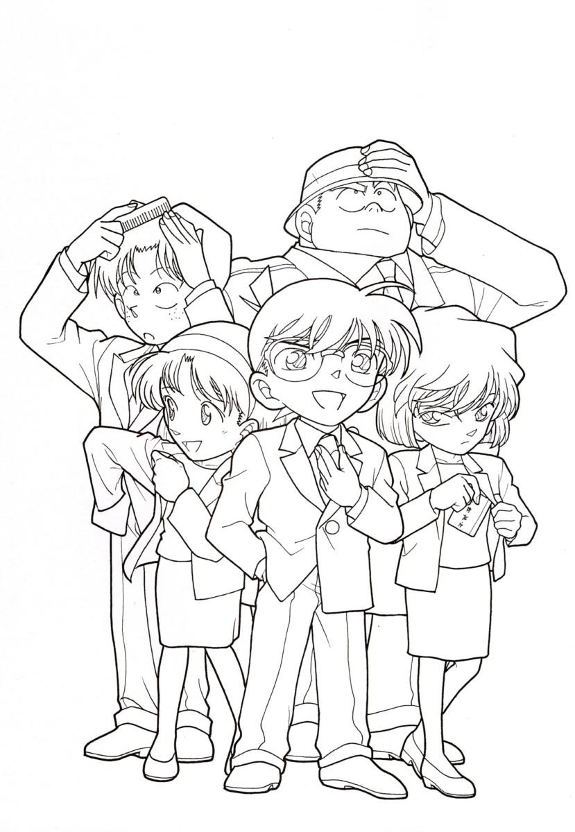 999 mẫu tranh tô màu Conan đẹp được các bạn trẻ yêu thích nhất hiện nay