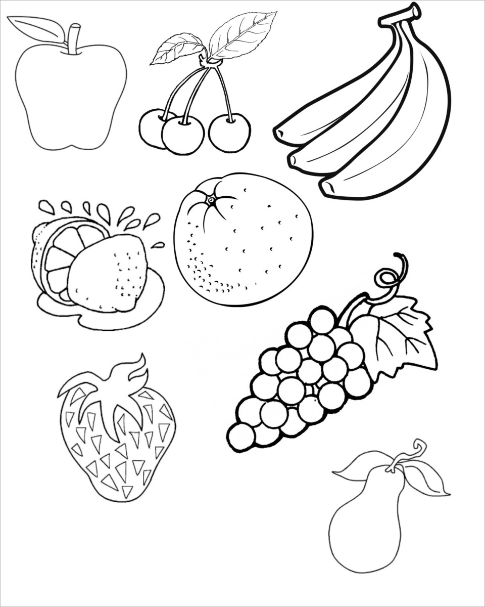 Tổng hợp 100 mẫu tranh tô màu trái cây hoa quả đẹp nhất cho bé