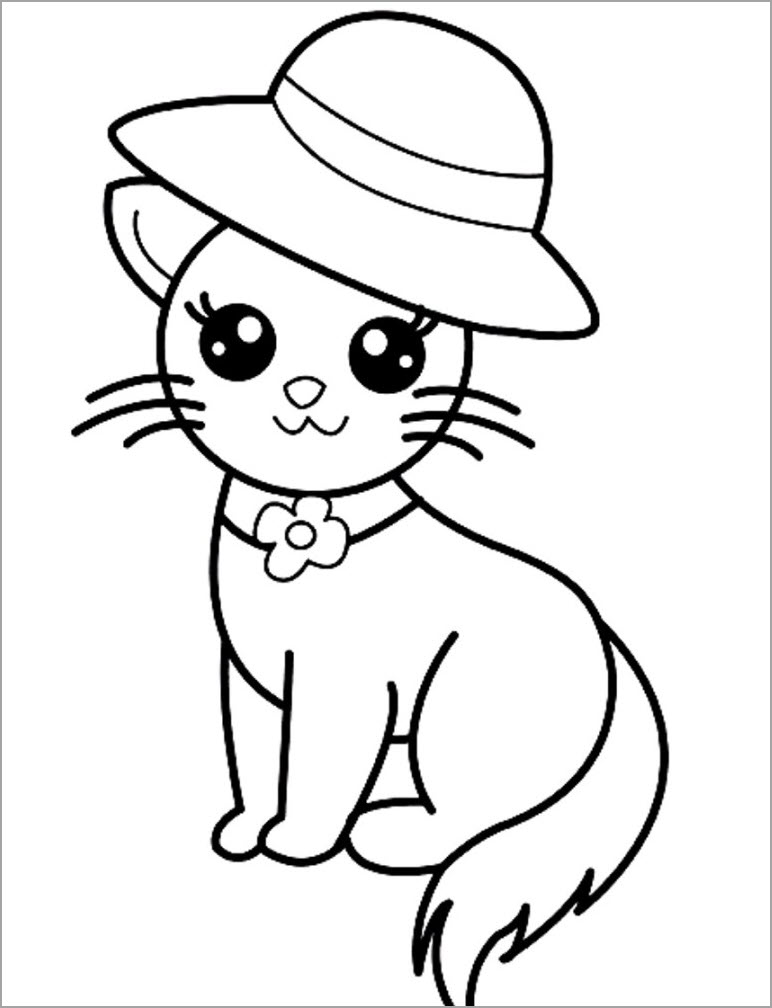 Tổng hợp những mẫu tranh tô màu con mèo đẹp siêu cool cho bé