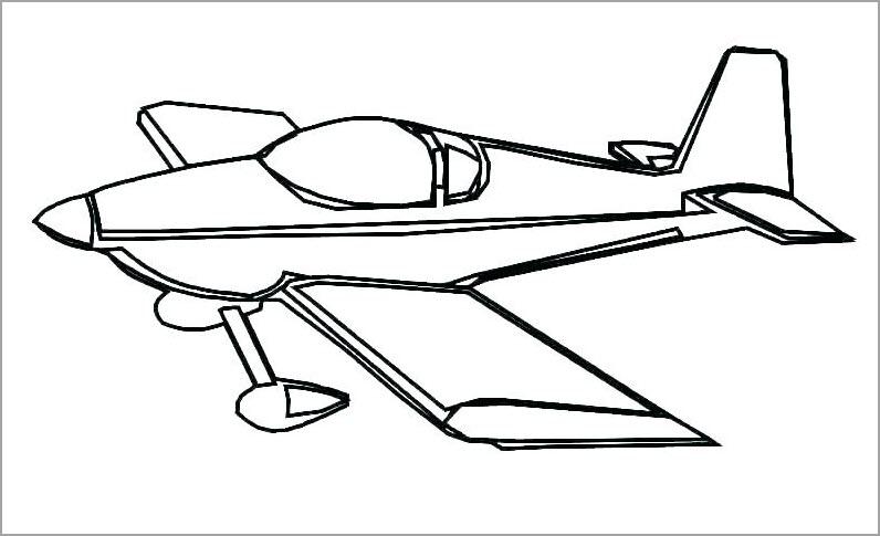 Trọn bộ 100 mẫu tranh tô màu máy bay đẹp được các bé yêu thích nhất