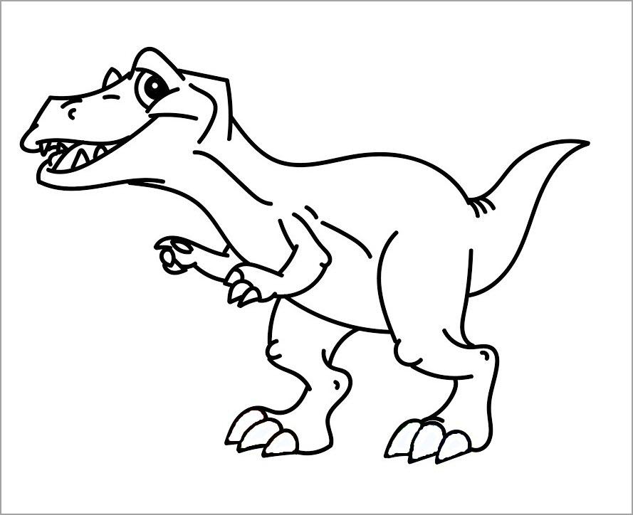 Tuyển chọn 100 mẫu tranh tô màu khủng long đẹp dễ thương nhất cho bé